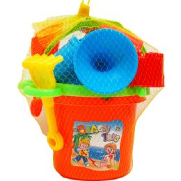 12 of 6 Beach bucket with tools asst. colors