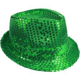 72 of Kids Green Sequin Fedora Hat
