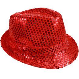 72 of Kids Red Sequin Fedora Hat
