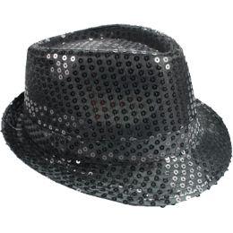 72 of Kid's Black Sequin Fedora Hat