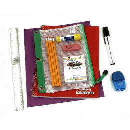 48 of 10 Piece Universal School Supply Kit For Students From Grades K-12
