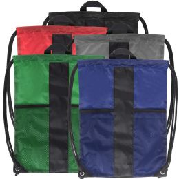 48 of Adventure Trails Drawstring Backpack - 5 Colors