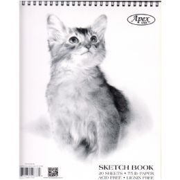 48 of Sketch Book, Poly Cover, 9x12, 20 Sheets In Display