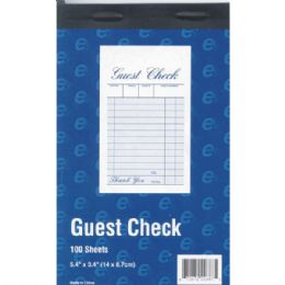 "60 of Guest Check Book - 5.4"" X 3.4"" - 100 Sheets"