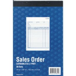 "60 of Sales Order Book, Carbonless, 5 9/16"" X 8 7/16"", 30 Sets , 60 Sheets"