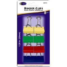 48 of Binder Clips, 8pk, Asst. Colors