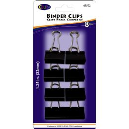 48 of Binder Clips, 8pk, Black