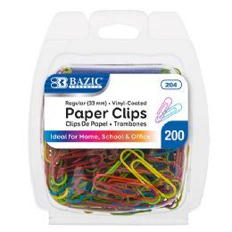 24 of No.1 Regular (33mm) Color Paper Clips (200/pack)