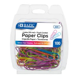 24 of Bazic Jumbo (50mm) Color Paper Clips (100/pack)