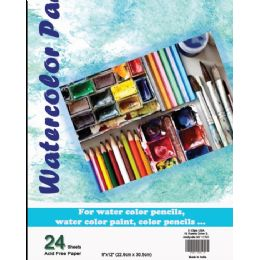 36 of Water Color Pad - 9 X 12 - 24 Sheets