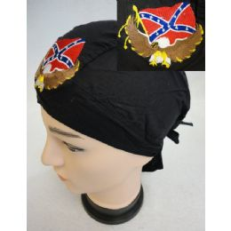 96 of Wholesale Skull Caps Motorcycle Hats Eagle Rebel Flag Embroidery