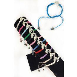 84 of Rhinestone Dolphin Braided Bracelet Adjustable Length