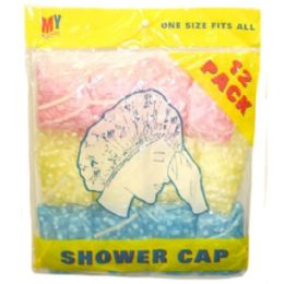 72 of 12 Piece Shower Caps