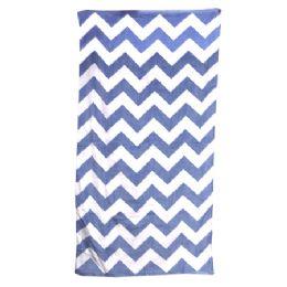 24 of Chevron Beach Towel, Navy