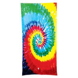 24 of Tie Dye Beach Towel - Rainbow
