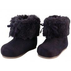 24 of Wholesale Baby's Faux Fur Cuff Winter Boots
