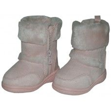 24 of Wholesale Kids's Winter Boots With Faux Fur Lining And Side ZippeR- Pink