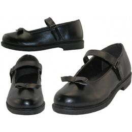 24 of Big Girls Mary Janes Black School Shoe