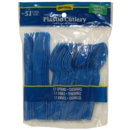 96 of 51pc Combo Cutlery Dark Blue ps