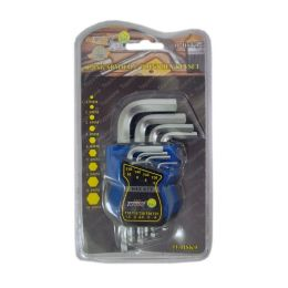 50 of 9 Pc Long Arm Ball Point Hex Key Set