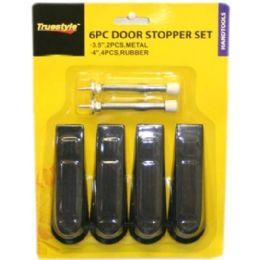 96 of 6pc Door Stopper Set Assorted Styles