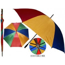36 of 50 Inches Diameter With Double Ribbed Jumbo Rainbow Umbrella