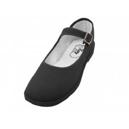 36 of Girls' Cotton Mary Jane Shoes (black Color Only)