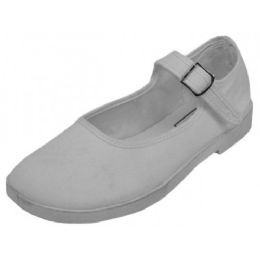 36 of Girls' Cotton Mary Jane Shoes (white Color Only)
