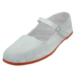36 of Girl's Classic Cotton Mary Jane Shoes( White Color Only)