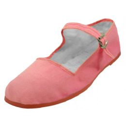 36 of Girl's Classic Cotton Mary Jane Shoes Pink Color Only