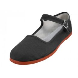 36 of Girl's Classic Cotton Mary Jane Shoes -Black Color Only