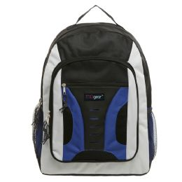20 of 16.5 Inch MiD-Size Cool Backpack For Kids, Bulk Case Of Blue