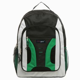 20 of 16.5 Inch MiD-Size Cool Backpack For Kids, Bulk Case Of Green