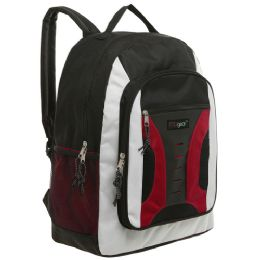 20 of Mggear 16.5 Inch MiD-Size Cool Backpack For Kids, Bulk Case Of Red