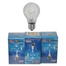 80 of 3pc Clear Light Bulb 75w