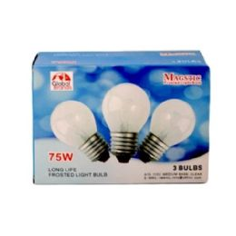 80 of 3pc Clear Light Bulbs 75w