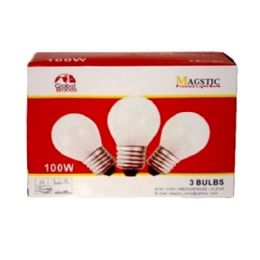 40 of 3 Pc Frosted Light Bulb 100w