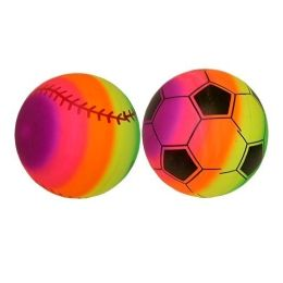 150 of 9 inch Rainbow Pvc Sport Ball