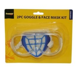 96 of 2 Piece Goggle And Face Mask Kit
