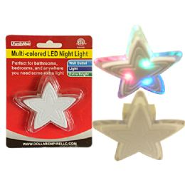 96 of Led Multicolored Star Night Light Wall Outlet