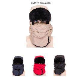 48 of Unisex Ski Faux Fur Winter Hat With Mask