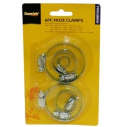 96 of 6 Piece Hose Clamps