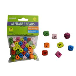 144 of 60 Piece Wooded Alphabet Beads