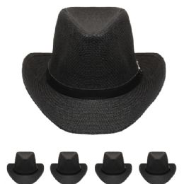 24 of Adults Cowboy Hat In Black