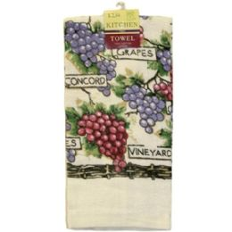 144 of Assted Printed Kitchen Towel 15x25 in