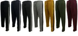 12 of Men's Sweat Stripe Pants 90% Poly 10% Cotton Q07