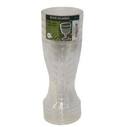96 of 5pc Plastic Wine Glasses
