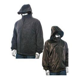 12 of Men's Reversible Nylon Fleece Jacket 90% Poly 10% Cotton