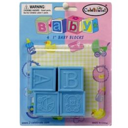 144 of Baby Favor Baby Blocks 4ct 1 Inch