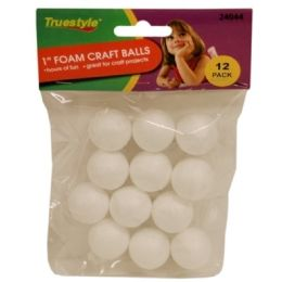 144 of 12pc 1in Foam Craft Balls
